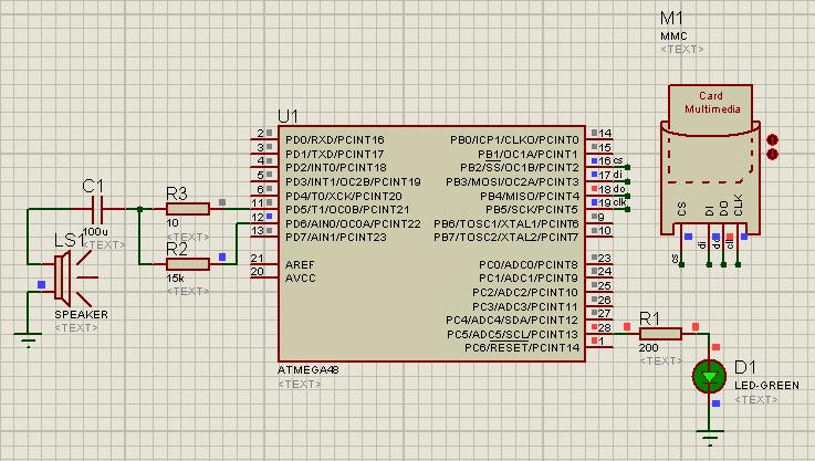 Схема ATmega8A/L Mono: