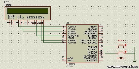 Делаем простые LCD часы на