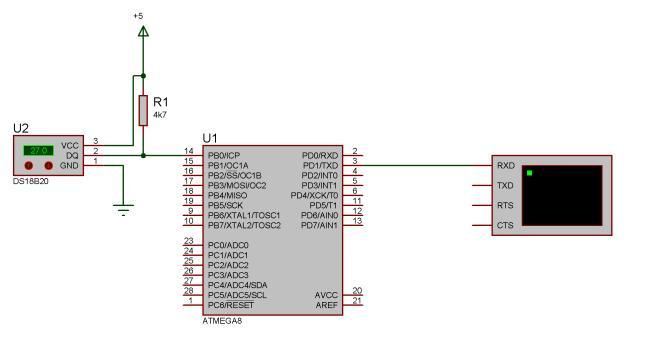 МК опрашивает датчик DS18B20 и выдает значение через RS232 в ПК.  Как с помощью Labview настроить COM-порт, принять.